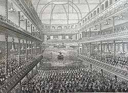 Spurgeon Preaching At The Surrey Music Hall Circa 1858