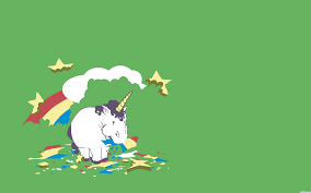 Unicorn Eating Rainbow