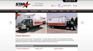 Star Truck Rentals Web Site (WordPress) On Behance