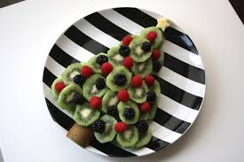 A Christmas Tree Made Of Fruit