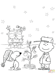 Christmas Tree Coloring Pages Printable Free Click Charlie Brown Jesus Christ Disney Princess Full Size
