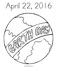 Save The Earth Coloring Pages Day At Twisty Noodle