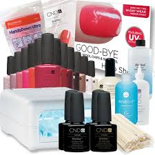 shellac maxi starter kit with programmable cnd shellac uv l