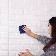 20Pcs 3D Brick Wall Stickers Self Adhesive Panel Decal PE Wallpaper Foam Pattern Soft Pack TV Sofa Background Living Room Decoration