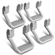 100 Steps For Trucks 4 Pcs Of Aluminum Side Assist Step For Pickups Chrome