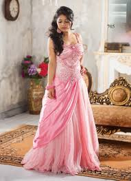pink net long gown dinner dress pinterest gowns party gowns