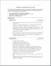 Property Maintenance Resume Manager Sample Management Useful For