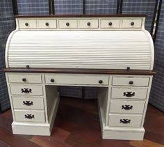 Ethan Allen Dark Pine Roll Top Desk by The Black Roll Top Desk Has Plenty Of Storage And A Bright Blue