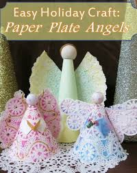 Easy Christmas Craft How To Make A Paper Plate Angel