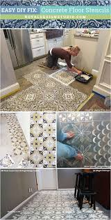 Cheap Flooring Ideas Over Concrete Winsome Easy Diy Fix Floor Stencils For Painting And Remodeling Pics