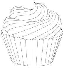 Cupcake Drawings for Coloring