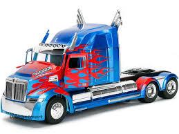100 Optimus Prime Truck Model TRANSFORMERS 5 OPTIMUS PRIME WESTERN STAR 5700 XE PHANTOM 124 MODEL