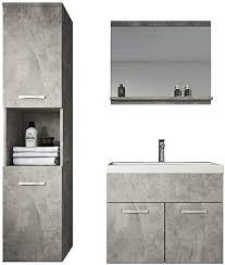 badezimmer badmöbel montreal 60cm waschbecken unterschrank waschtisch spiegel möbel beton