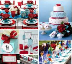 Tiffany Blue And Red Wedding Decorations Color Palette