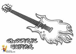 Electric Guitar Coloring Page Archives Best To Download