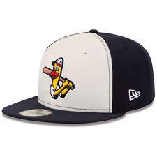 New Era Toledo Mud Hens Cream Navy Alternate 2 Authentic 59FIFTY Fitted Hat