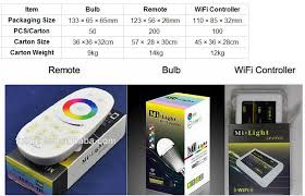 2 4g wireless wifi light bulb adapter hue e14 9w multi color e27