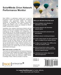 Solarwinds Web Help Desk Ssl Certificate by Buy Solarwinds Orion Network Performance Monitor Book Online At