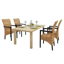 Amazon.com - 4 Pieces Rattan Wicker Abaca Dining Chairs, Solid Mango ... Round Mango Wood Ding Table Copper Grove Arneburg Ibis Rattan 6seater Light Bench Set 8 Pc Counter Stools By Prime At Brothers Fniture Aran For 4 Empire With Upholstered Intercon Solid Kona Inka4278btab Natural Wood 100cm Round Pedestal Ding Table And Matching Chairs Set Mant119 Indian Hub Toko Wooden Chair Creek X Leg 170cm Mansa 175cm Dakota 90cm Pyramid Chairs