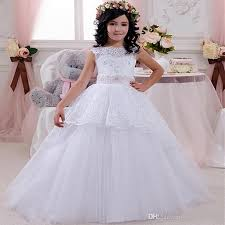 Long Sleeve Lace Sweet Flower Girl 2017 Dress For Weddings Vintage