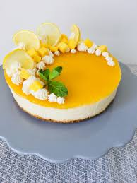zitrone mango cheesecake no bake vegantina