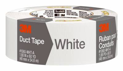 "3M Duct Tape - White, 1.88"" x 60yd"