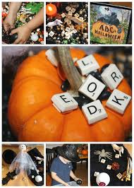 Cliffords Halloween alphabet halloween sensory bin halloween read and play little