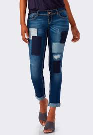 distressed patchwork skinny ankle jeans ankle pants cato fashions