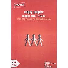 Staples Copy Paper 11 X 17 Ream