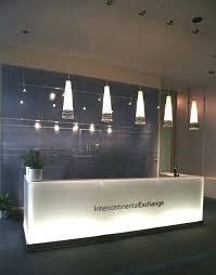Front Desk Design Clean Modern Ice Reception Hotel Ideas