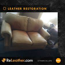 Ethan Allen Leather Sofa Peeling by Leather Restoration Restore And Dye Furniture Car Seat Bag