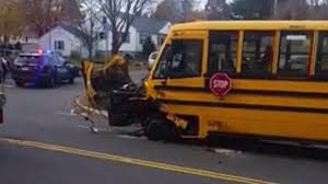 Driver Distracted By Cell Phone Hit School Bus In Ansonia: Police ...