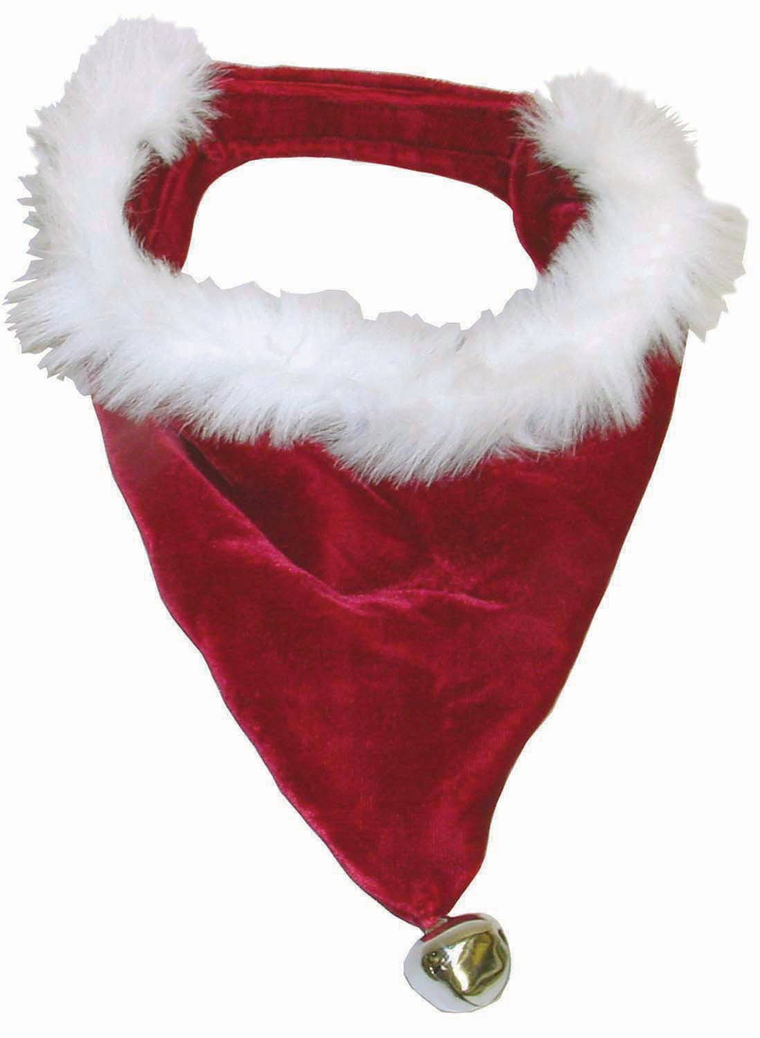 Outward Hound Dog Christmas Santa Bandana Jingle Bell