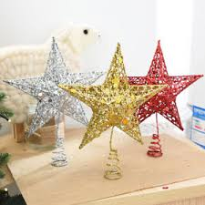 Image Is Loading Chic Shimmery 5 Point Star Christmas Tree Topper