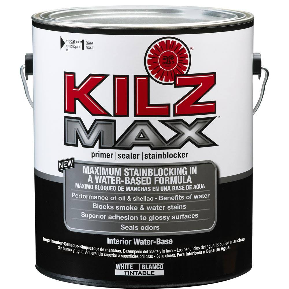 Kilz Max L200201 Water Based Interior Primer Sealer and Stain-Blocker - 1gal, White
