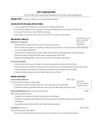 Examples Of Electrician Resumes Apprentice Resume Sample Samples Org Tools Ravishing