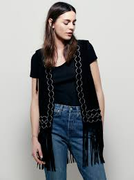 free people ringo suede vest in black lyst