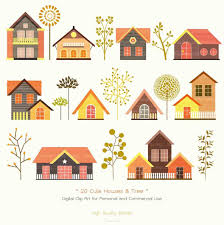 Clipart Clip Art Set Daily Hub Free Everyday House Coloring Page Sweet Cute Home