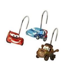 Cars Bathroom by Disney Cars 12 Pc Set Shower Curtain Hooks Kids Bathroom Mater