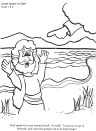 Jonah Learns To Obey God Bible Coloring Page For Kids Learn Stories