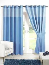 Teal Blackout Curtains 66x54 by Gingham Eyelet Top Curtains Ebay