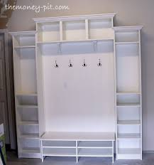 bine IKEA bookcases for an inexpensive mud room