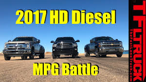 100 Highest Mpg Truck 2017 Chevy HD Vs Ford SD Vs Ram HD Diesel 22800 Lbs Towing MPG