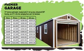 12x24 Portable Shed Plans by Premier Lofted Barn Garage Storage Building