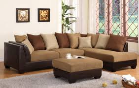 microfiber sectional couch with ottoman doherty house ultimate