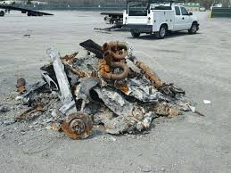 100 Salvage Truck Auction This Pile Of Ash At A Used To Be A 2005 Ford GT