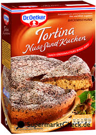 dr oetker tortina nuss sand kuchen nutri score kalorien