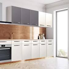 klebefolie für die küche wandschrank 120 cm breite grau light