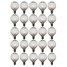 clear 7 watt g50 globe light bulbs e12 candelabra base 25 pack
