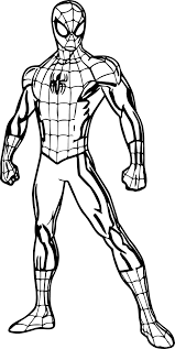 Easy Spiderman Picture To Color Deadpool And Coloring Pages Nazly Me Coloriage Ultimate Spider Man